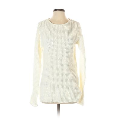 Bethany Mota for Aeropostale Pullover Sweater: Ivory Print Tops - Size X-Small
