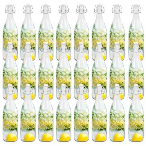vidaXL Glasflaschen mit Bügelverschluss 24 Stk. 1 L