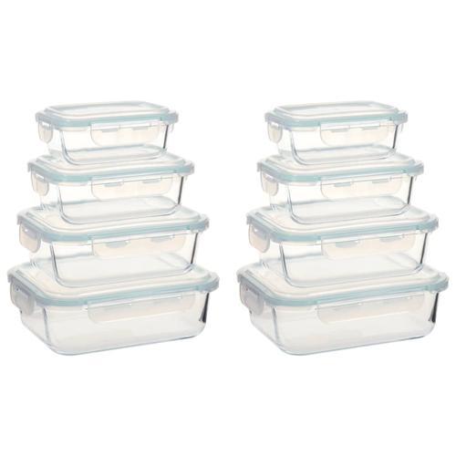 vidaXL Glas-Lebensmittelbehälter 8 Stk.