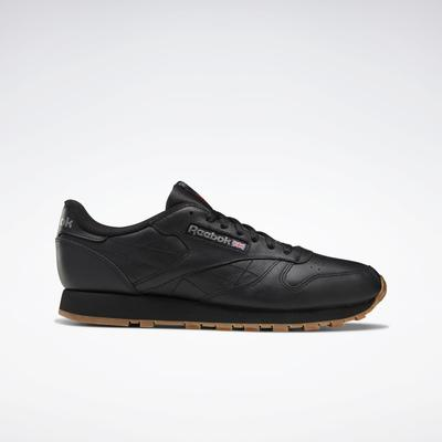 Reebok Men's Classic Leather Shoes in Black/Gum Size 5 - Lifestyle Shoes