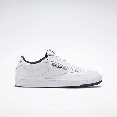 Reebok Unisex Club C 85 Men's Shoes in White/Navy Size M 15 / W 16.5 - Court,Lifestyle Shoes