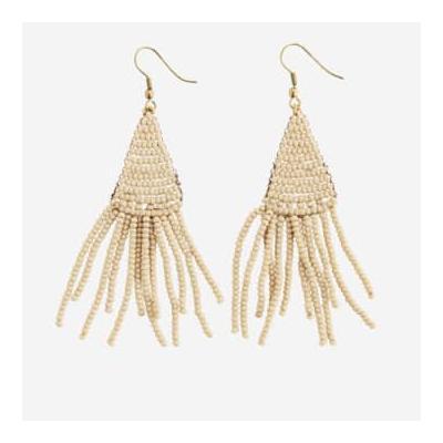 fashion jewellery - Beige Beaded Earrings - OS
