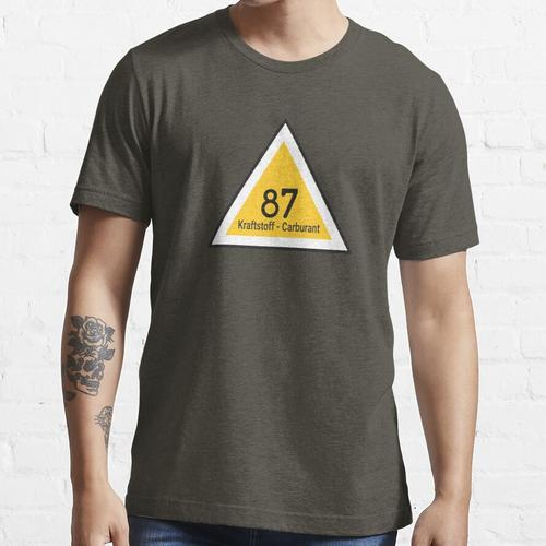 Kraftstoff - Carburant 87 Kraftstoffetikett Essential T-Shirt
