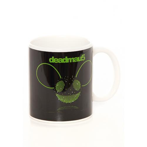 Deadmau5 - Green Disco Ball Head White -