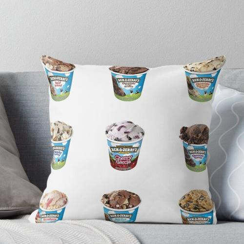 Ben & Jerry's Sticker Pack Kissen