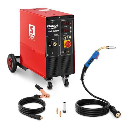 Stamos Basic MIG-/MAG-Schweißgerät - 250 A - 400 V - ED 60 % - mit Wagen S-MIG 250 / MIGOMAT 250/ SPAWARKA