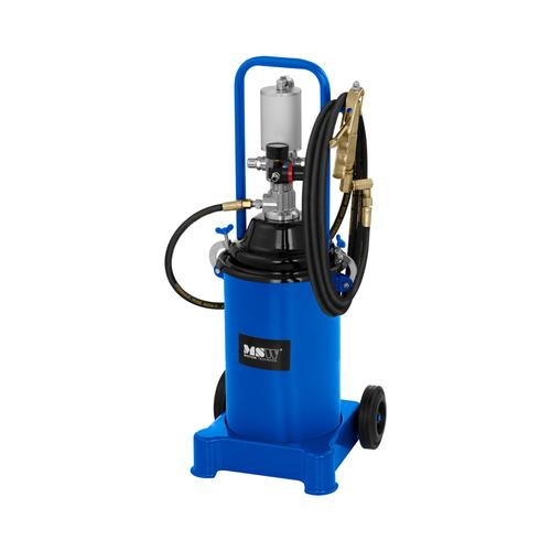 MSW Fettpresse pneumatisch - 12 Liter - fahrbar - 300-400 bar Pumpendruck PRO-G 12M