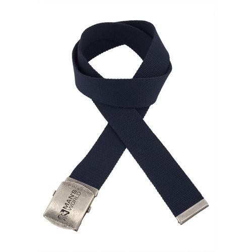 Man's World Stoffgürtel, Mit Koppelschließe, Textilbandgürtel blau Damen Stoffgürtel Gürtel Accessoires