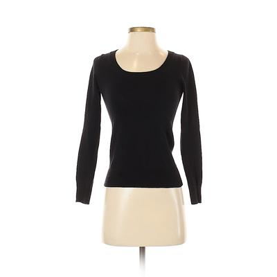 Ambiance Apparel Pullover Sweater: Black Solid Tops - Size Small