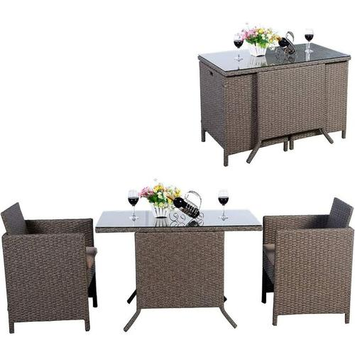 3tlg.Polyrattan Sitzgruppe Lounge Set Gartenmoebel, Rattanmoebel Gartenlounge Gartengarnitur