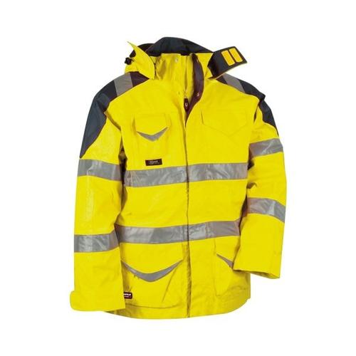 Warnschutz 4in1 Winterjacke »PROTECTION« Größe 50 gelb, Cofra