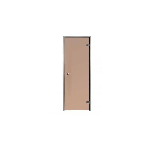 Tür für Hammam 80 x 190 cm mit vorgespanntem Glas, Bronze- und Matt- Effekt, Rahmen aus Aluminium 1