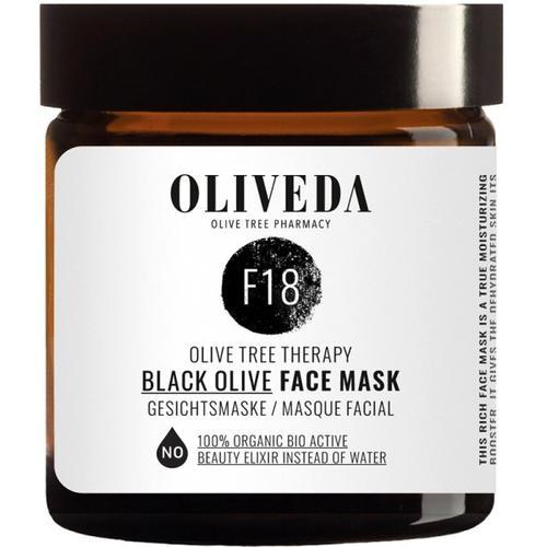 Oliveda F18 Maske schwarze Oliven - Rejuvenating 60 ml Gesichtsmaske