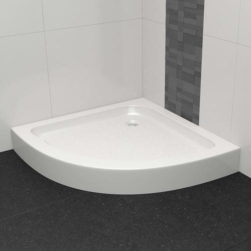 vidaXL Duschwanne 80×80×13,5 cm Acryl Weiß