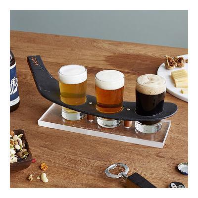 NHL Game-Used Hockey Stick Beer Flight