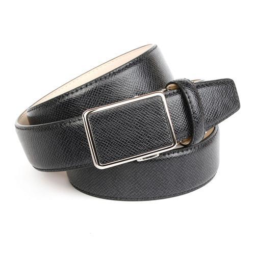 Anthoni Crown Ledergürtel, mit Designmuster, leicht bombiert schwarz Damen Ledergürtel Gürtel Accessoires