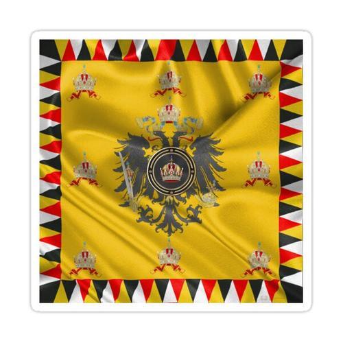Kaiserkrone von Österreich über Standard des Kaisers Sticker