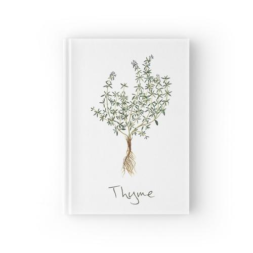 Thymian-Kraut, Thymian-Pflanze, Thymian-Druck, Thymian-Kunstdruck Notizbuch