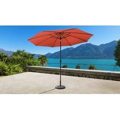 11' Outdoor Market Umbrella for kathy ireland Homes & Gardens in Persimmon - TK Classics UMBRELLA-11x8MKT-KI-PERSIMMON