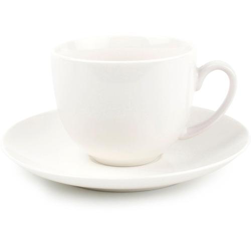 nurso Espressotasse Lara, (Set, 12 tlg., 6 Espressotassen-6 Espressountertassen), Tassen, Untertassen weiß Becher Tassen Geschirr, Porzellan Tischaccessoires Haushaltswaren