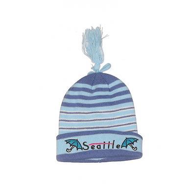 SNCO Beanie Hat: Blue Stripes Ac...