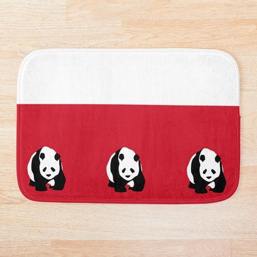 Panda Badematte und Duschvorhang Badematte