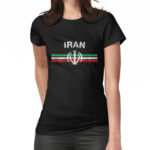 Iranisches Flaggen-Hemd - iranisches Emblem u. Das Iran-Flaggen-Hemd Frauen T-Shirt