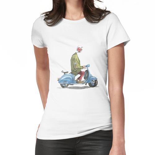 Lässiges Vespa Motorrad Frauen T-Shirt