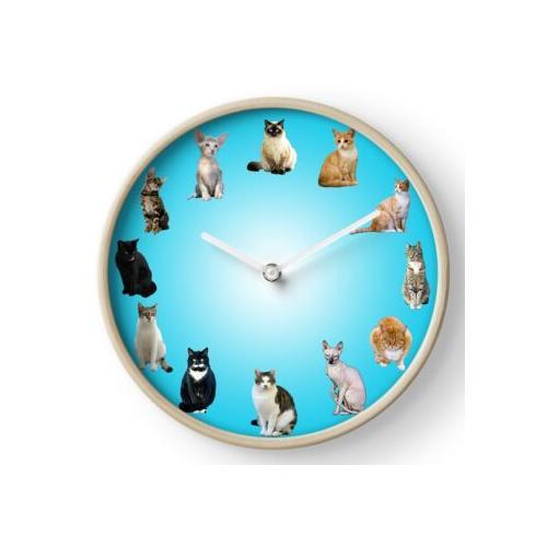 Katzen-Wanduhr Uhr