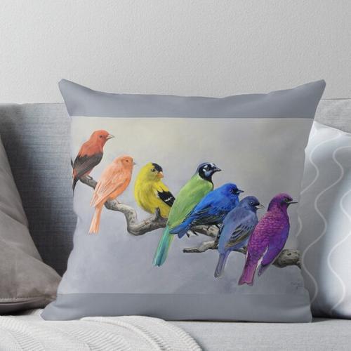 Orange Kanarienvogel Kissen