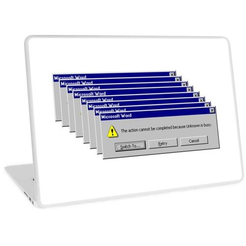 Windows 98 Fehlermeldung Laptop Skin