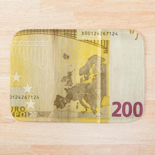 200 Euro Schein für viel Glück Badematte