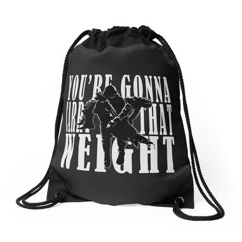 Du wirst dieses Gewicht tragen - Cayde-6 Rucksackbeutel