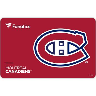 Montreal Canadiens Fanatics eGift Card ($10 - $500)