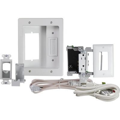 On-Q HT22U2WHR6 Flat Screen TV Pro Power Kit- White