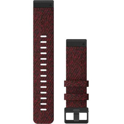 """""""Garmin Watch Accessories Quick Fit 22 Watch Band Heathered Red Nylon 22 mm Model: 010-12863-06"""""""