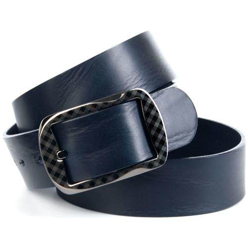 Anthoni Crown Ledergürtel, mit Oberflächennarbung blau Damen Ledergürtel Gürtel Accessoires