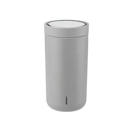 Stelton Thermobecher To Go Click, 200 ml grau und Coffee to go Geschirr, Porzellan Tischaccessoires Haushaltswaren
