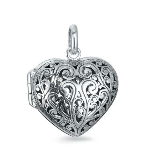 Medaillon Silber Herz aufklappbar 22 mm