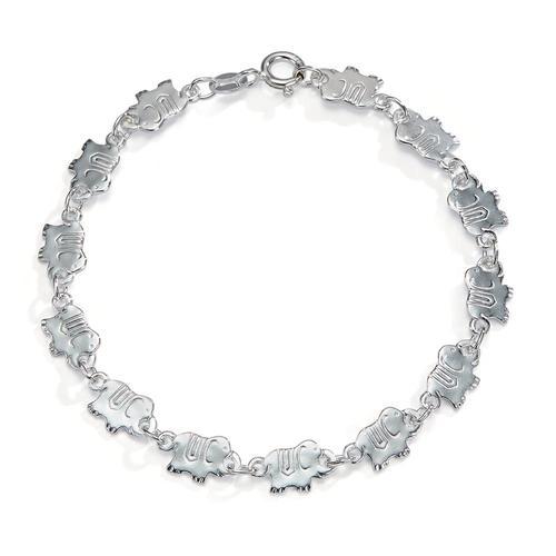 Armband Silber Elefanten 17 cm