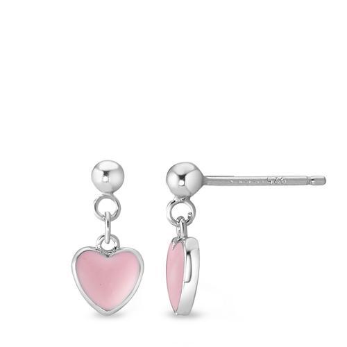 Ohrhänger Silber emailliert Herz