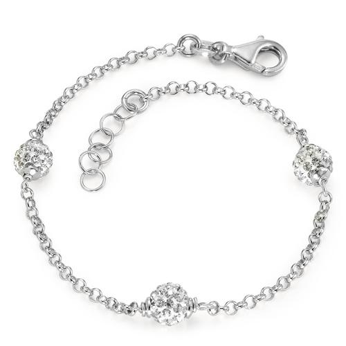 Armband 925 weisse Kristalle