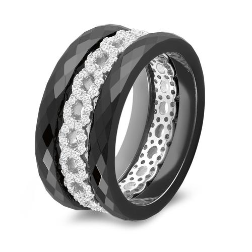 3 Ringe 925 + Keramik