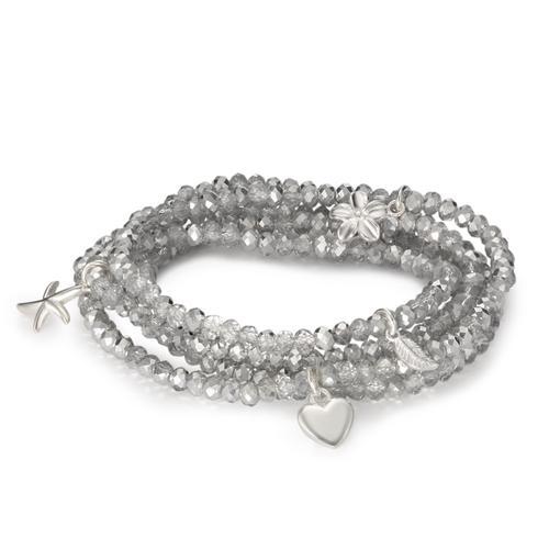 Armband Silber Kristall 20 cm Ø4 mm