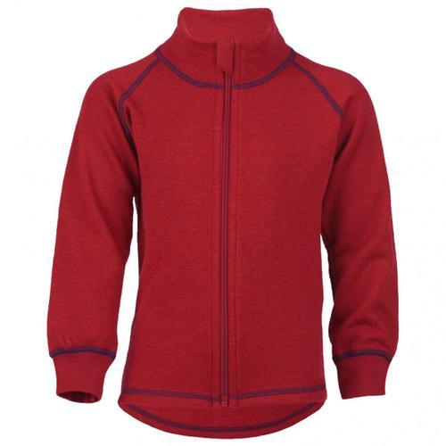 Engel - Kinder-Zip-Jacke Mit Kinnschutz - Wolljacke Gr 140 rot