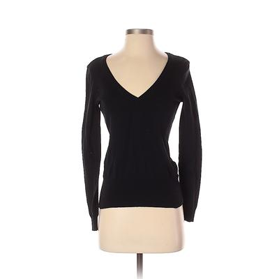 Assorted Brands Pullover Sweater: Black Solid Tops - Size Small