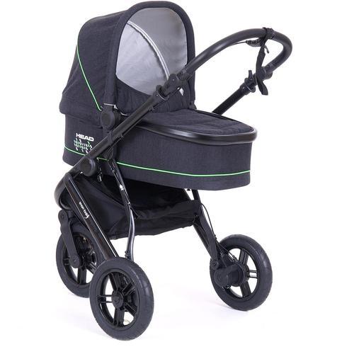 Knorrbaby Jogger-Kinderwagen HeadSport 3, darkgrey-green, Kinderwagen, Jogger, Dreiradwagen, Dreirad-Kinderwagen, Dreiradkinderwagen, Joggerkinderwagen grau Kinder Kinderwagen Buggies