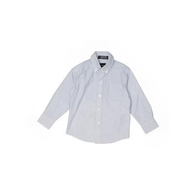 Arrow Long Sleeve Button Down Shirt: Blue Tops - Size 5