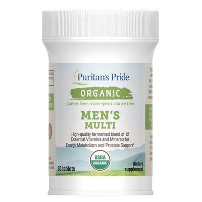 Puritan's Pride Organic Organic Men's Multi with Zinc-30 Tablets