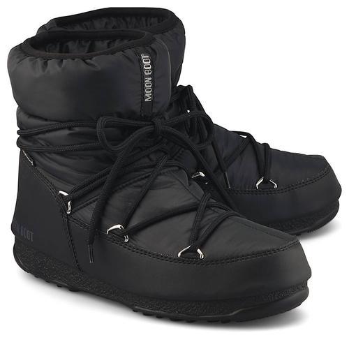 Moon Boot, Moonboots Low Nylon Wp2 in schwarz, Boots für Damen Gr. 38